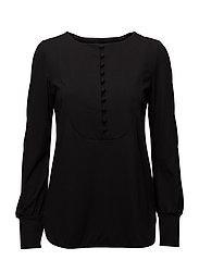 Ladies shirt, Nappi - BLACK