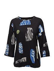 Ladies shirt, Piha - BLACK
