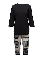 Ladies pyjamas, Lohkare - BLACK