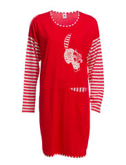 Ladies big shirt, Foxtrot - red