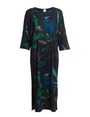 Ladies kaftan, Hibiscus - black