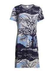 Ladies big shirt, Talvipuutarha - light blue