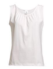 Ladies top, sleeveless - white