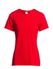 Ladies t-shirt, 1/2 sleeve - red