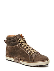 Buddy mid lace boot - elephant brown