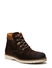 Trygve mid lace boot - dark brown