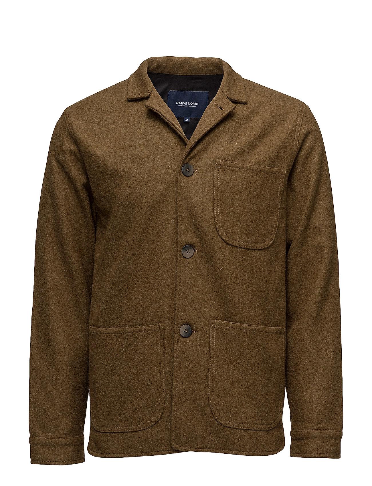 Wool utility jacket fra native north fra boozt.com dk