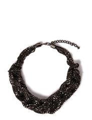Ditte Statment Necklace - Gunmetal