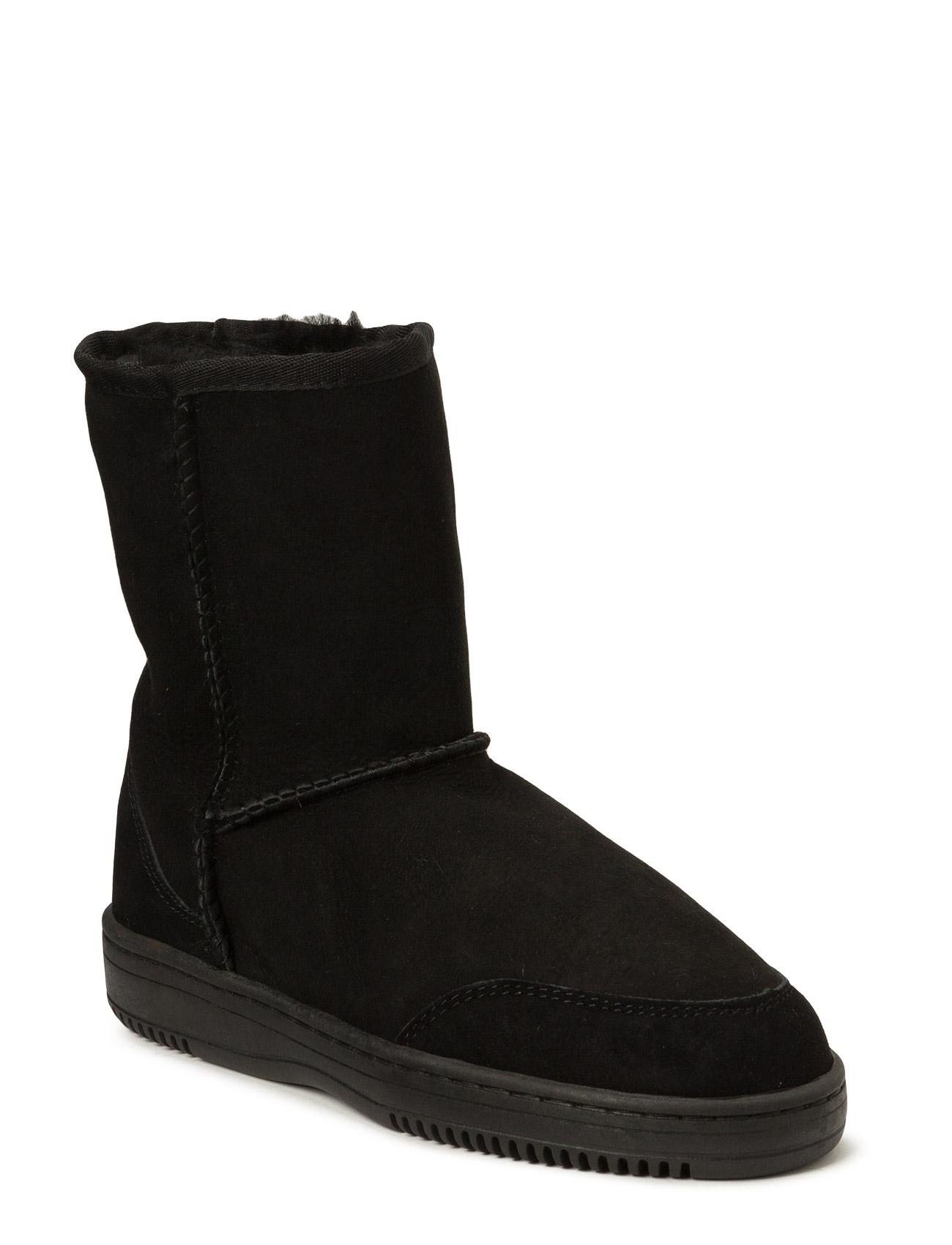 Short New Zealand Boots Støvler til Damer i Sort