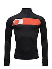 Iconic Thermal Power Shirt - BLACK/SIGNAL