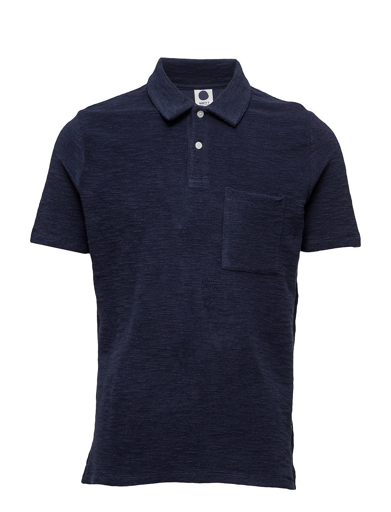 Quince Polo 3306 NN07 Kortærmede polo t-shirts til Herrer i Marine blå