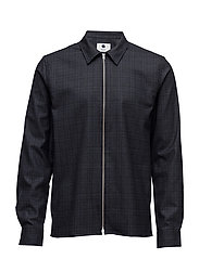 Zip Shirt 1251 - NAVY CHECK