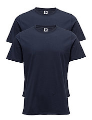 2 Pack Pima Tee 3208 - NAVY BLUE