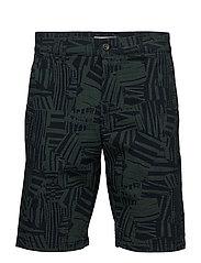 Crown Shorts 1227 - GREEN PRINT
