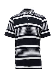 Quince SS Polo 3370 - NAVY STRIPE
