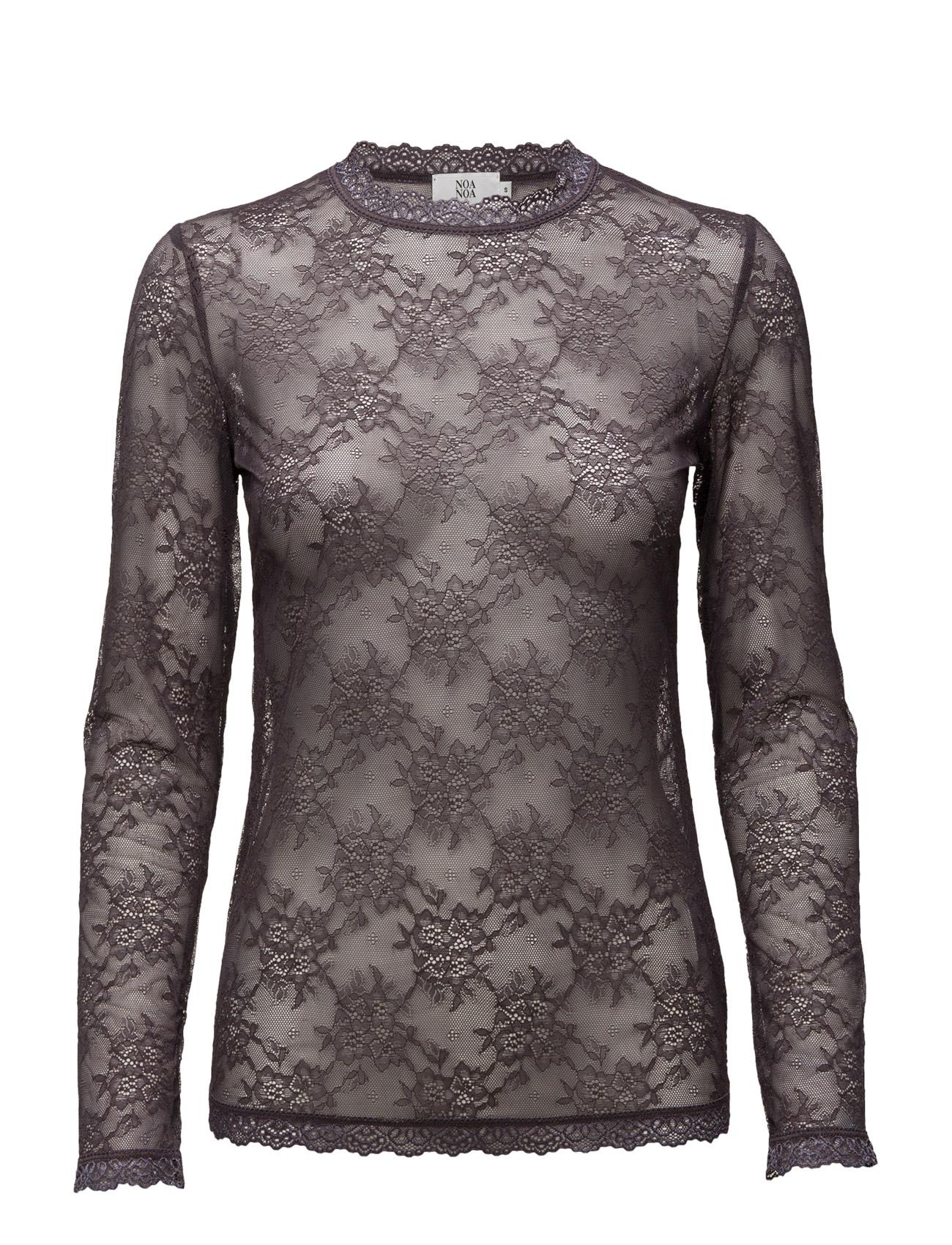 T-Shirt Noa Noa Langærmede til Kvinder i Shadow Gray