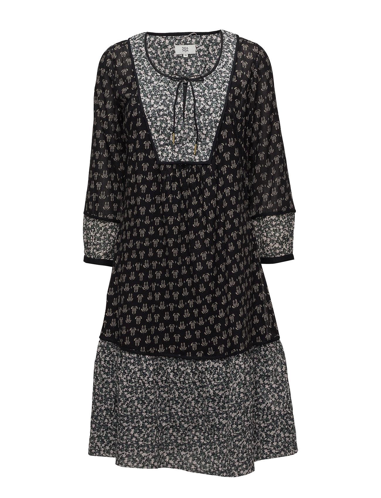 Dress Long Sleeve Noa Noa Knælange & mellemlange til Damer i Print Black
