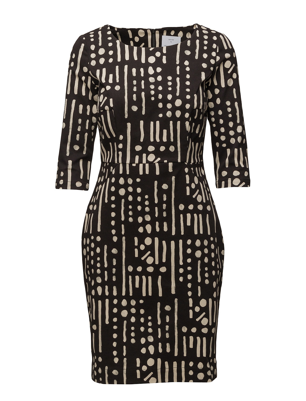 Dress Long Sleeve Noa Noa Knælange & mellemlange til Damer i Print Black