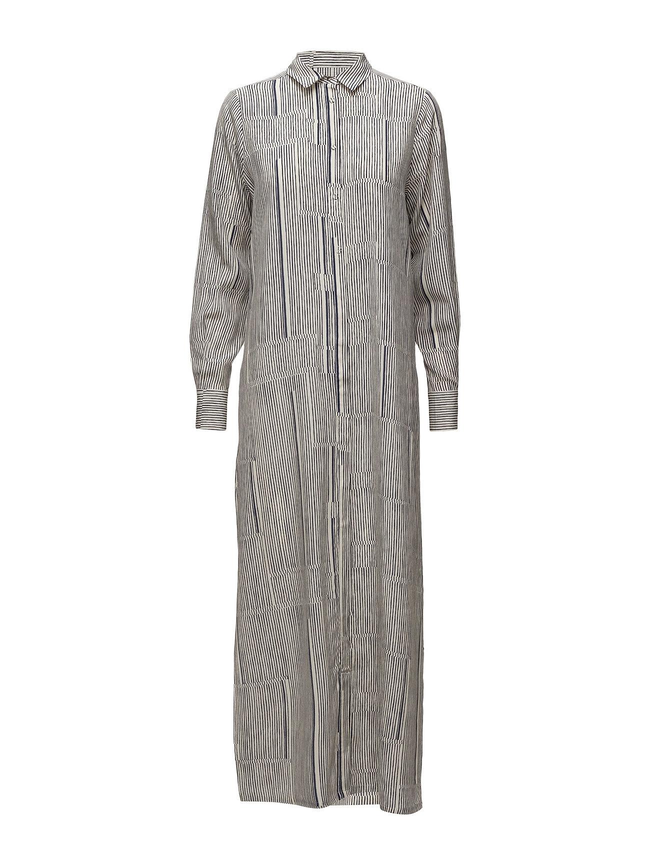 Dress Long Sleeve Noa Noa Maxi Kjoler til Kvinder i Print Blå