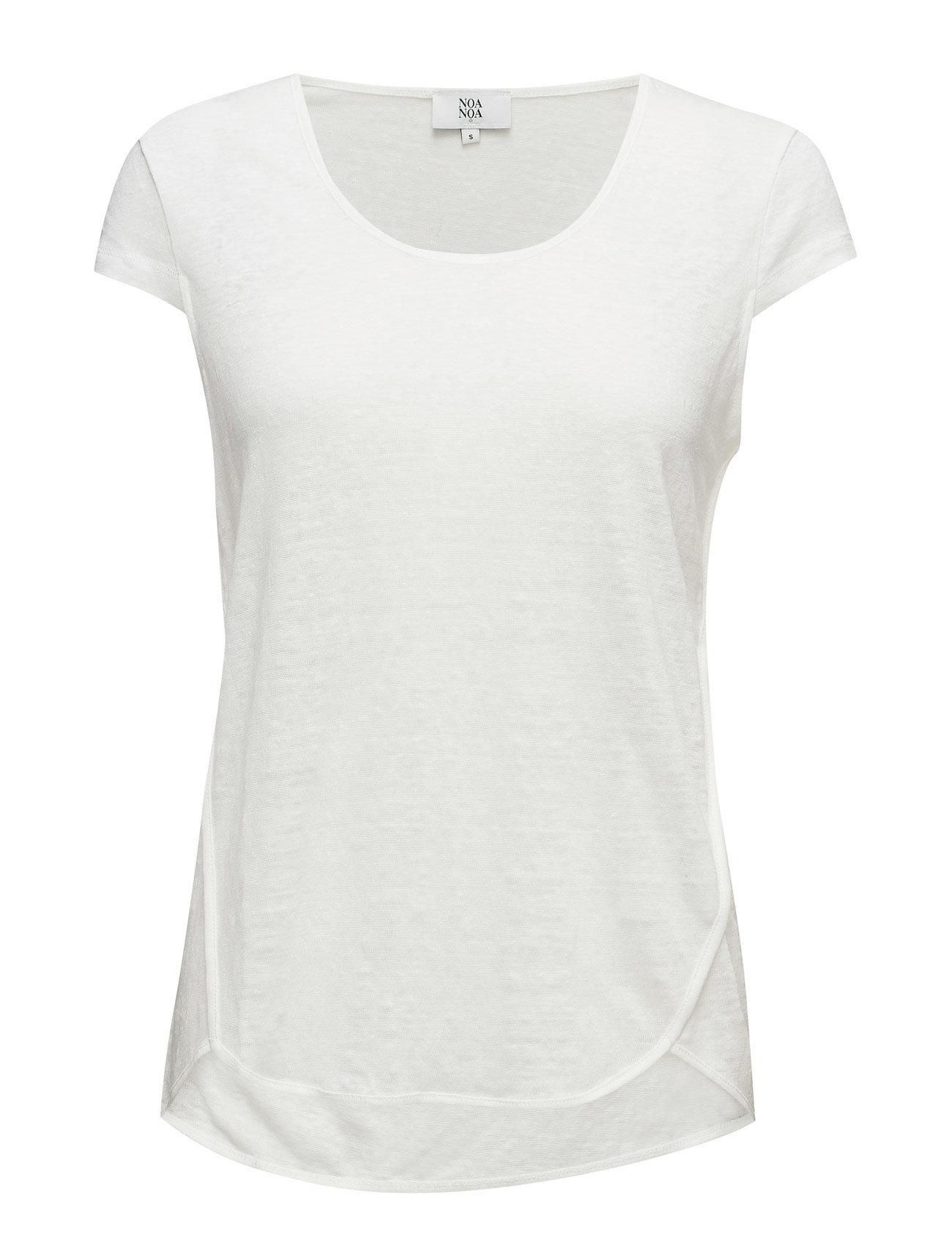 T-Shirt Noa Noa Kortærmede til Damer i Cloud Dancer