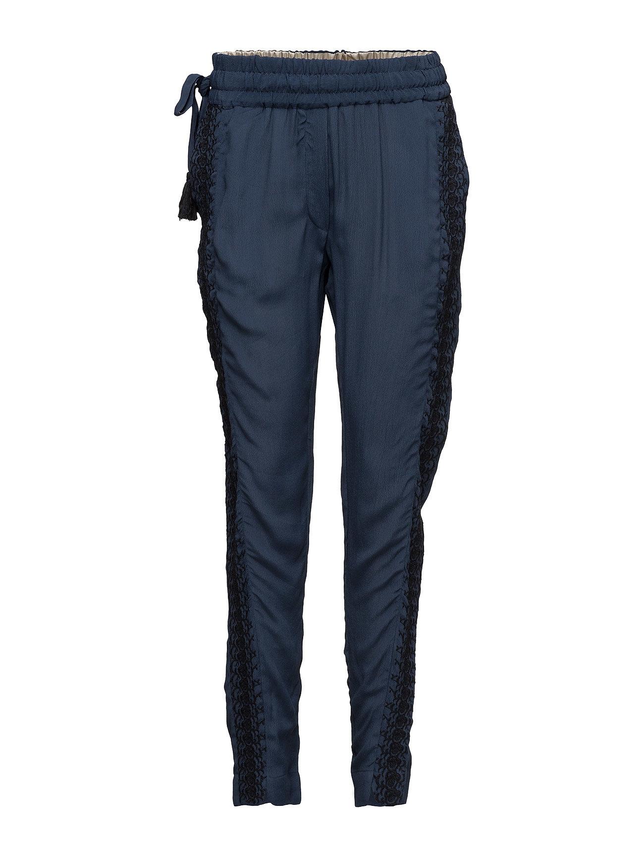 Trousers Noa Noa Casual bukser til Damer i Dress Blues