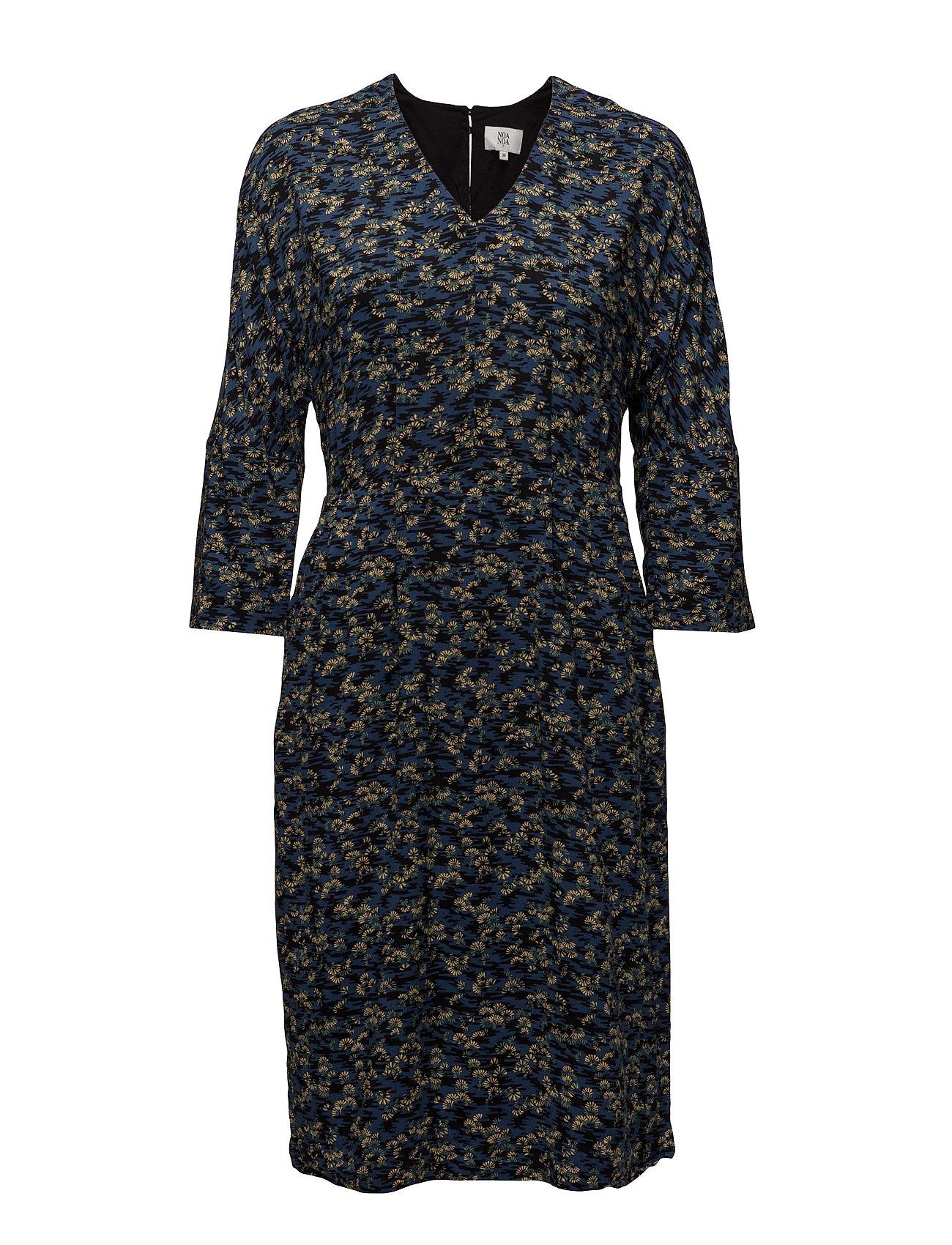 Dress Long Sleeve Noa Noa Kjoler til Kvinder i Print Blå