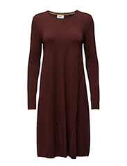 Dress long sleeve - CHOCOLATE