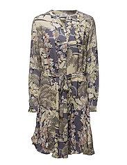 Dress long sleeve - PRINT PURPLE