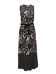Dress sleeveless - PRINT BLACK