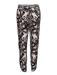 Trousers - PRINT BLACK