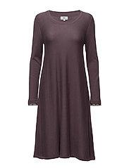 Dress long sleeve - PURPLE MELANGE