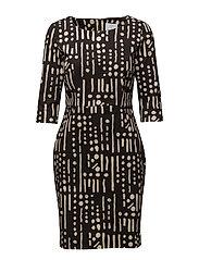 Dress long sleeve - PRINT BLACK