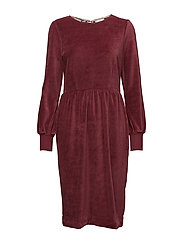 Dress long sleeve - OXBLOOD RED