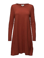 Dress long sleeve - BARN RED