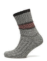 COSY WOOL SOCK - GREY MELANGE