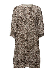 Dress long sleeve - PRINT OFF WHITE