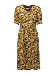 Dress short sleeve - PRINT YELLOW