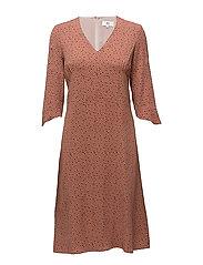 Dress long sleeve - PRINT NUDE