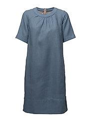 Dress short sleeve - BLUE SHADOW