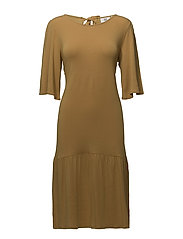Dress short sleeve - AMBER GOLD