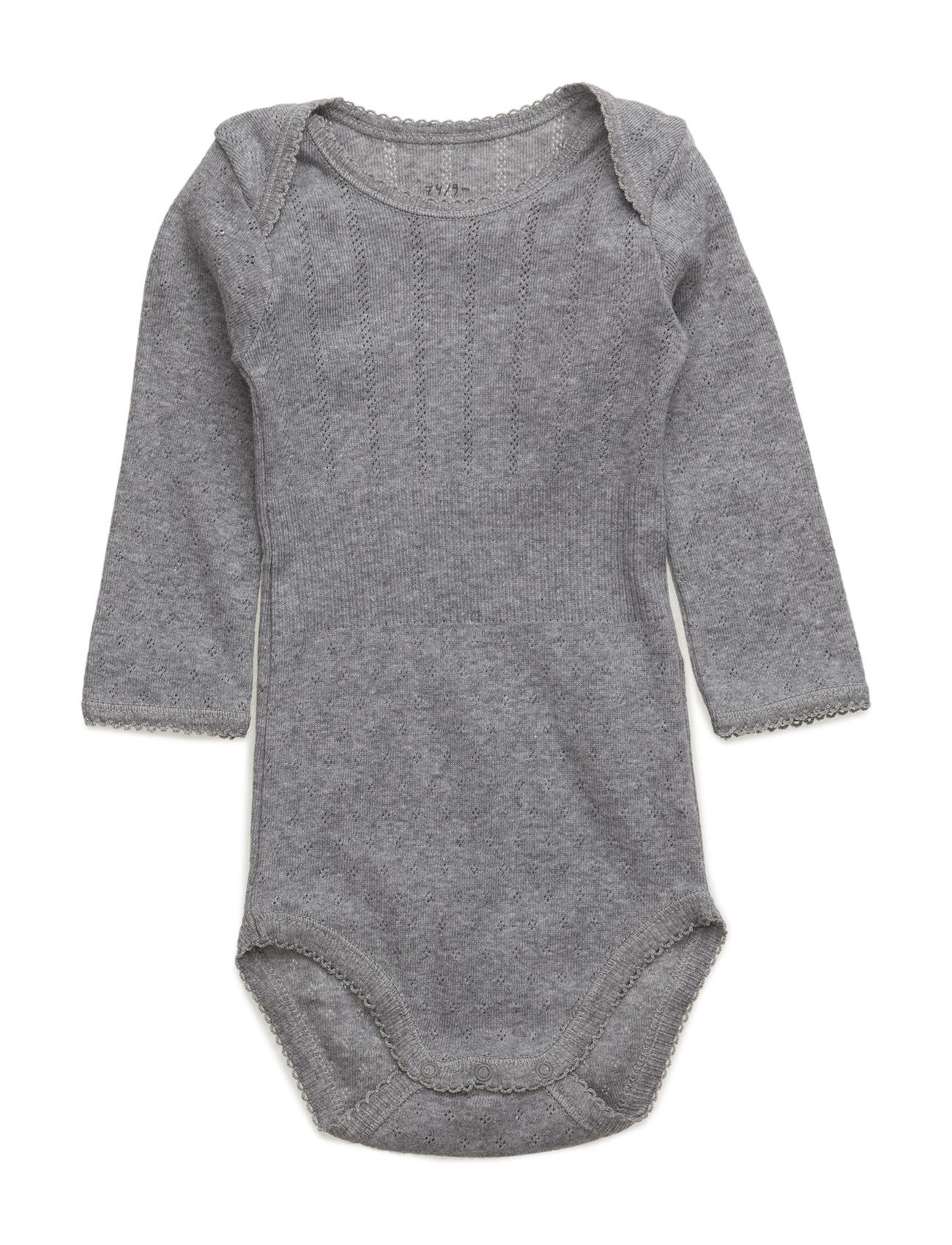 Baby Body Noa Noa Miniature Bodies til Piger i Grey Melange