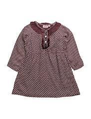 Dress long sleeve - EGGPLANT
