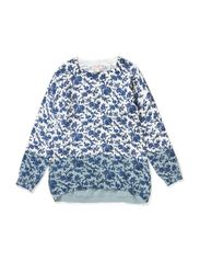 MINI PRINTED KNIT - BAY BLUE
