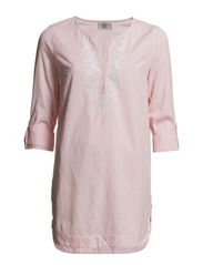 Tunic,Long Sleeve - SUNKIST CORAL