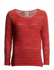 Pullover,Long Sleeve - RED CLAY