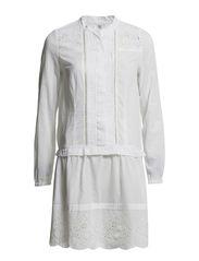 Dress long sleeve,Long Sleeve - WHITE
