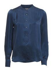 ATELIER SILK SHIRT - DRESS BLUE