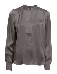 ATELIER SILK SHIRT - LIGHT CAVIAR