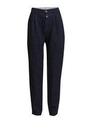 LINEN STRIPED - DRESS BLUE