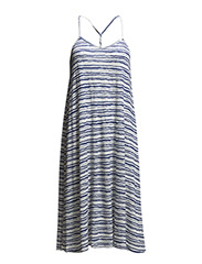 SUMMER DRESSES STRIPED - STONE BLUE